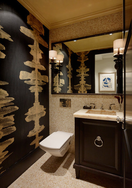 Eclectic Powder Room by Design Line Construction, Inc.