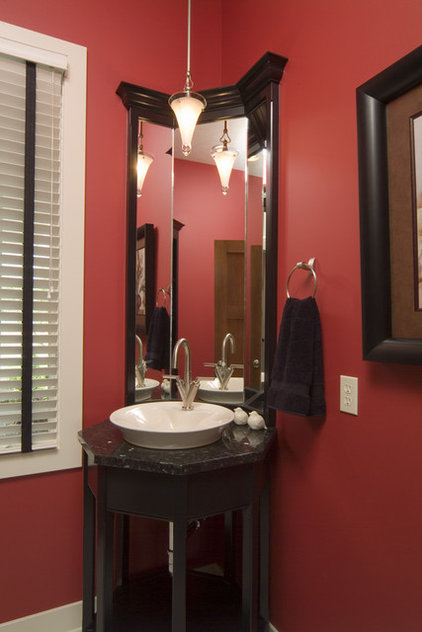 Asian Powder Room by Rivertown Homes by Design
