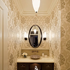 Traditional Powder Room by tdSwansburg design studio