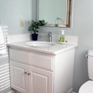 Inspiration Pour Un Petit WC Et Toilettes Traditionnel Avec Un Placard Avec  Porte à Panneau Surélevé