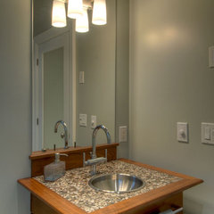 contemporary powder room by Black Tusk Development Group Ltd.