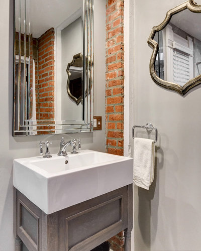 American Traditional Powder Room by Reliance Design Build
