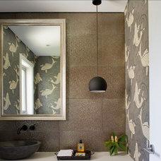 Contemporary Powder Room by Denai Kulcsar Interiors