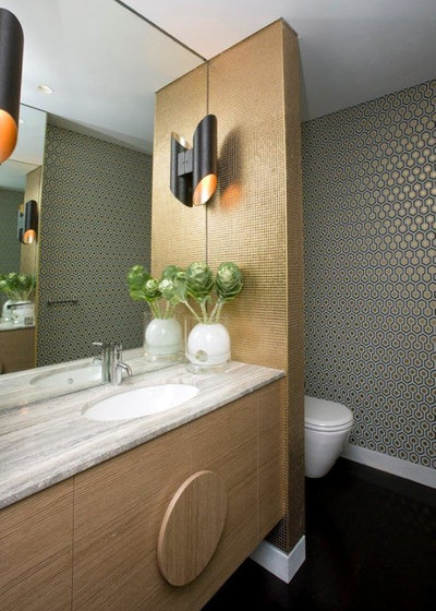 Mid-Century Gästetoilette by Horizon - Residential & Commercial Builders