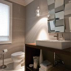 Contemporary Powder Room by Valdem Built Inc.