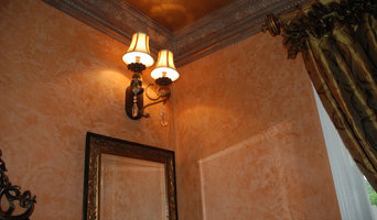 Venetian Plaster in the Powder Room
