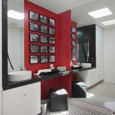 Contemporary Powder Room by Amato Design Inc.
