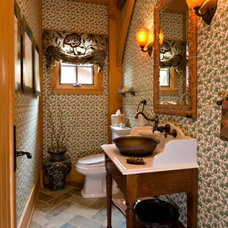 Traditional Powder Room by Laurel Feldman Interiors, IIDA