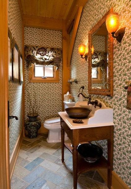 Traditional Powder Room by Laurel Feldman Interiors, IIDA