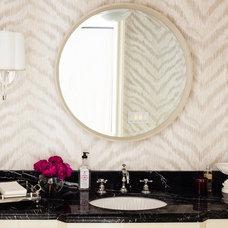 Traditional Powder Room by Hillary Thomas Designs