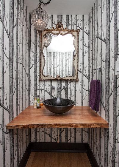 Contemporary Cloakroom by Farrow Arcaro Design