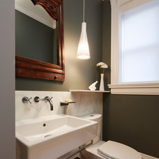Traditional Powder Room by Mia Rao Design