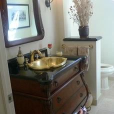 Traditional Powder Room by NMB Custom Homes and Renovations, LLC