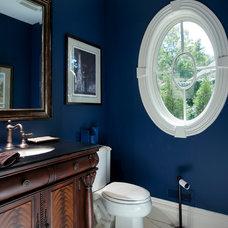 Traditional Powder Room by Swerdloff Properties Inc.