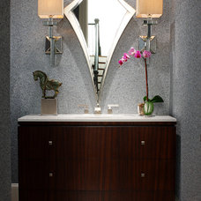 Contemporary Powder Room by Bryan Alan Kirkland Designs