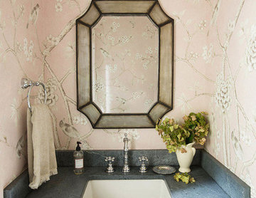 Vintage Cottage Powder Room