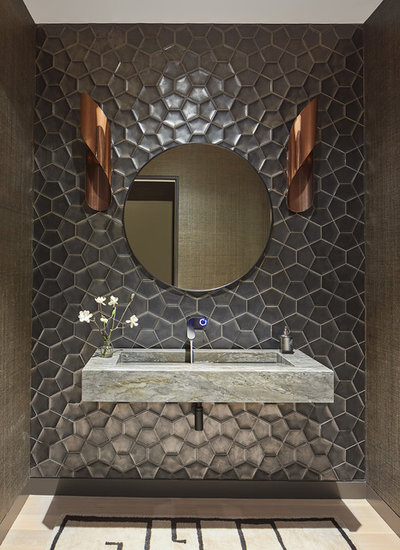 Contemporary Powder Room by M.S. Vicas Interiors