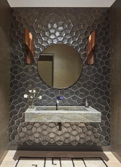 Contemporary Powder Room by M.S. Vicas Interiors