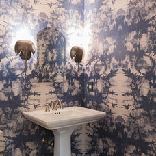 Eclectic Powder Room by Gillan Abercombie