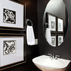 Traditional Powder Room by Just Jill! Interiors