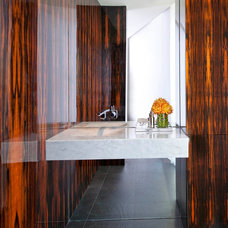 Contemporary Powder Room by R Brant Design