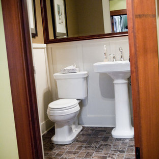 Inspiration for a craftsman powder room remodel in Seattle
