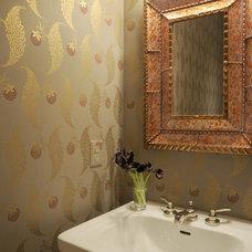 Traditional Powder Room by bossy color | Annie Elliott interior design