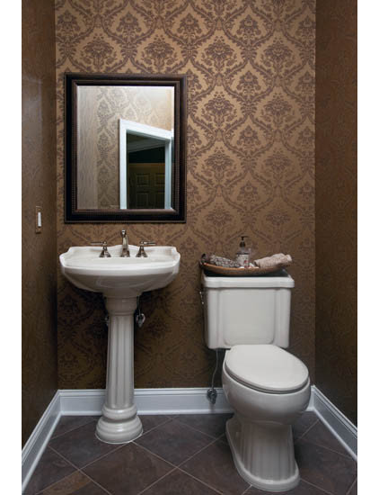 Traditional Powder Room by Iris Interiors