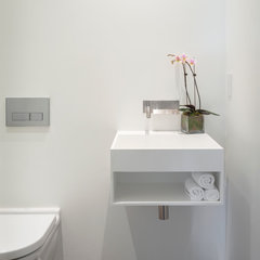contemporary powder room by Design Line Construction, Inc.