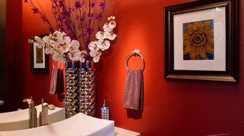 Washougal WA Contemporary Home Powder Room