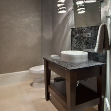 Contemporary Powder Room by Dave Brewer Homes