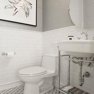 75 Beautiful Subway Tile Powder Room