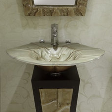 Contemporary Powder Room by Stanton Interiors