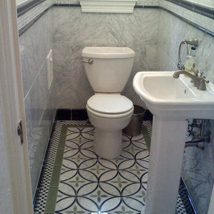 Inspiration for an eclectic powder room remodel in Other