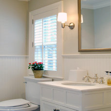 Traditional Powder Room by Donelan Contracting