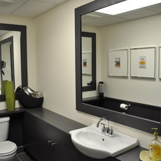 Contemporary Powder Room by Habitat-Fix inc