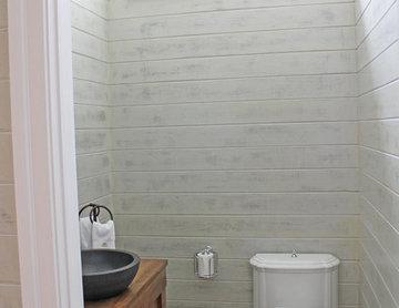 Weathered Shiplap Powder Room