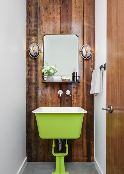 Contemporary Powder Room by Upscale Construction