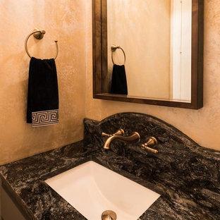 West Frisco Gold and Black Cosmos Powder Room