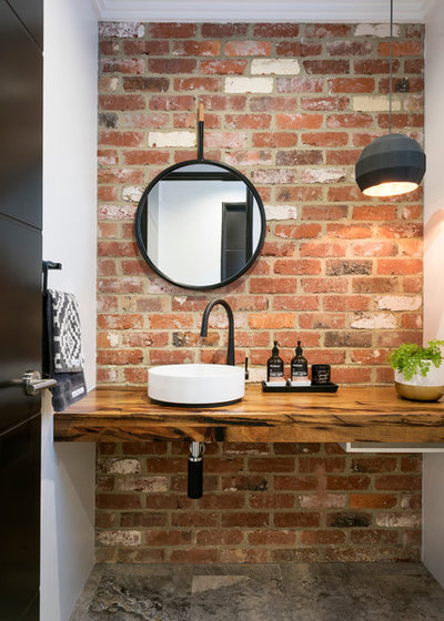 Contemporary Powder Room by Broadway Homes