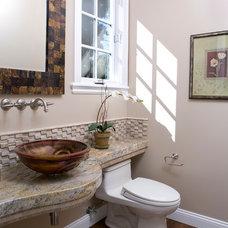 Transitional Powder Room by B.L.Builders, Inc