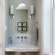 Traditional Powder Room by Rasmussen / Su Architects