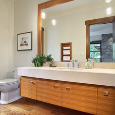 Contemporary Powder Room by Citation Kitchens