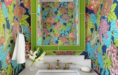 Powder Room Patterns: 10 Fantastic Florals