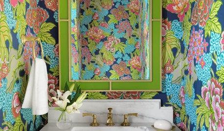 Powder Room Patterns: 10 Fantastic Florals