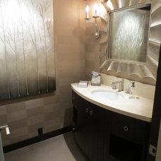 Contemporary Powder Room by MR Interior Design