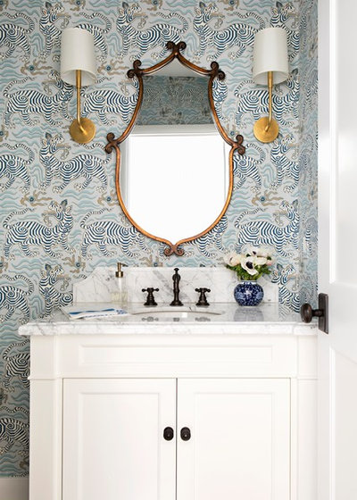 Transitional Powder Room By Paige Pierce Design