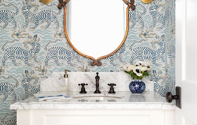 New This Week: 3 Stylish Powder Rooms