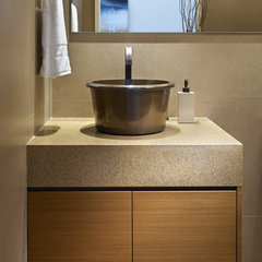 contemporary powder room by Claudia Leccacorvi