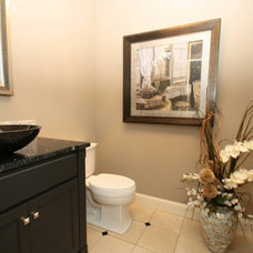 Traditional Powder Room by LDK Homes